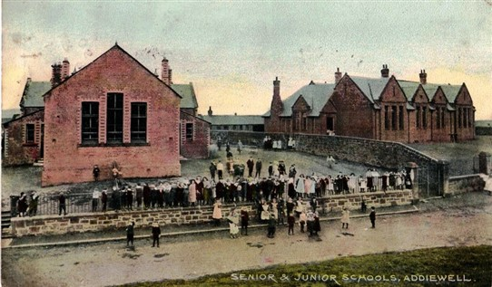 Photo:The junior and senior schools, c. 1910 - but which is which?
