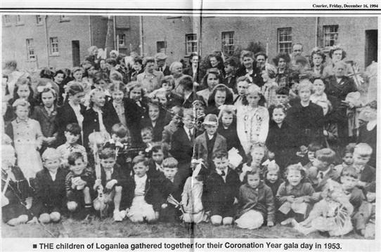 Photo:Loganlea's Coronation Gala Day in 1953.