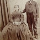 Photo:John Stein, foreman engineer at Addiewell Works, and his wife, c. 1860s.