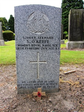 Photo:Sarah O'Keefe's gravestone in West Calder Cemetery