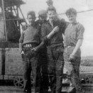 Photo:Four young miners at Loganlea Colliery, 1950s?