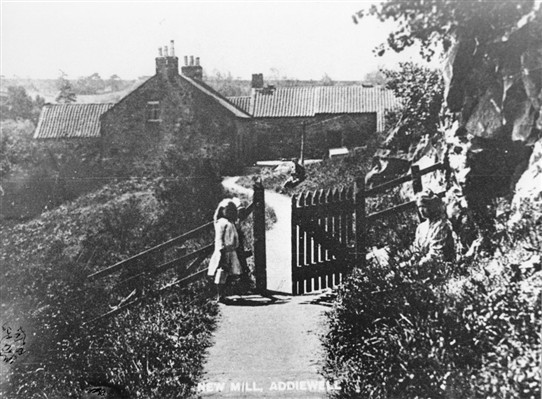 Photo:Addiewell Mill, beside Cuthill Bridge. c.1910.