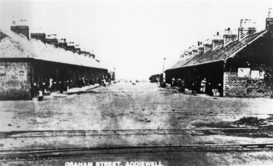 Photo:Graham Street, one of the earliest in Addiewell.