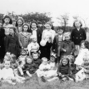Photo:Loganlea Gala Day, 1946 or '47.  The baby, front right, is David Pennykid (born 1944).  Girl at the back in the frilly top is Betty Oliver.