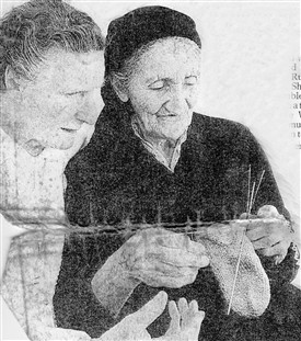 Photo:Sister Margaret (left) with an elderly Bosnian woman.