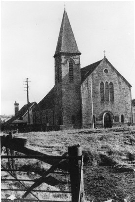 Photo:Addiewell Parish Church.  The steeple was later removed.
