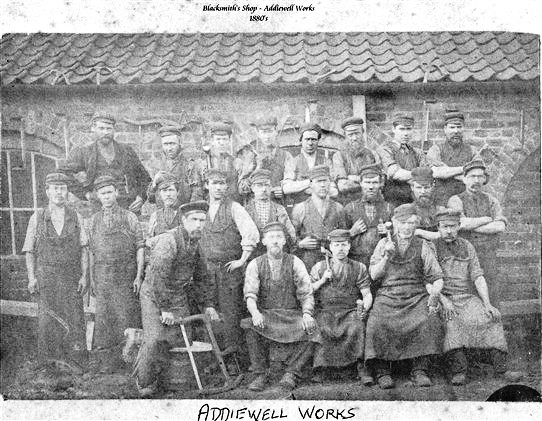 Photo:Addiewell Oil Works blacksmiths or coopers, c.1890s.